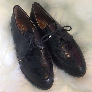 Size 39 black Oxford shoes. Top shop brand.